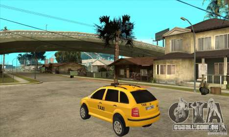Skoda Fabia Combi Taxi para GTA San Andreas traseira esquerda vista
