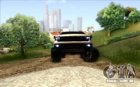 Ford F-150 Carryer Metal Mulisha para GTA San Andreas vista interior