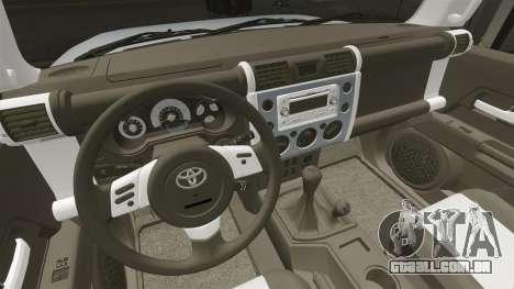 Toyota FJ Cruiser para GTA 4 vista lateral