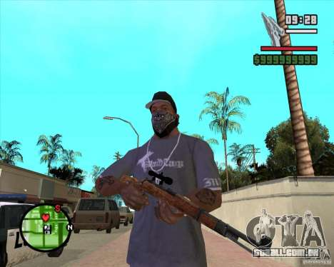 K98 para GTA San Andreas segunda tela