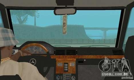 Mercedes-Benz G500 1999 v. 1.1 kengurâtnikom para GTA San Andreas vista traseira