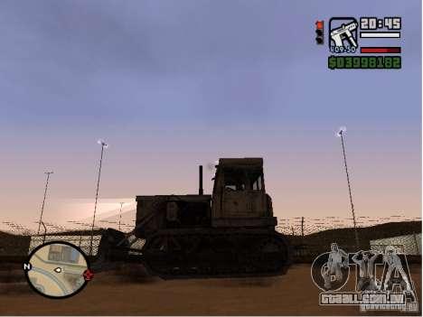 Bulldozer T 130 para GTA San Andreas esquerda vista
