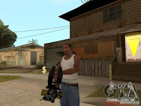 Minigun para GTA San Andreas segunda tela