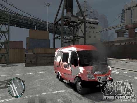 Gazela 2705 Telkomsel Van para GTA 4 vista de volta