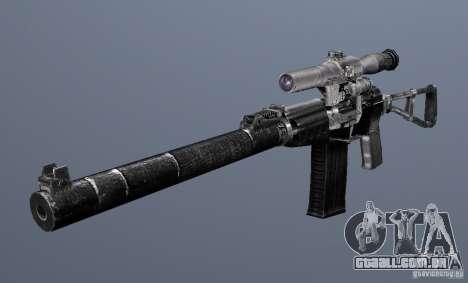 Como o Rifle de assalto do Val para GTA San Andreas terceira tela