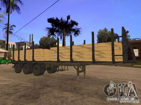 Reboque MAZ 99864 para vista lateral GTA San Andreas