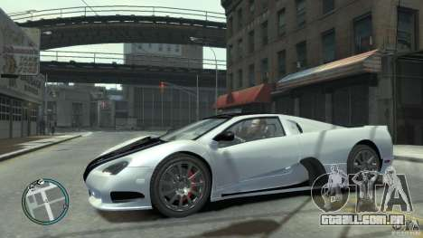 Shelby Super Cars Ultimate Aero para GTA 4 vista lateral
