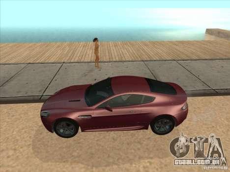 Aston Martin v8 Vantage n400 para GTA San Andreas traseira esquerda vista