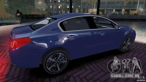 Peugeot 508 Final para GTA 4 esquerda vista