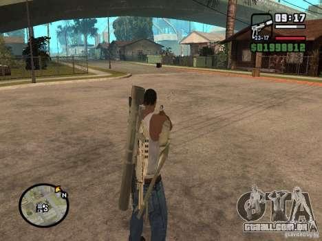 A visão padrão para GTA San Andreas