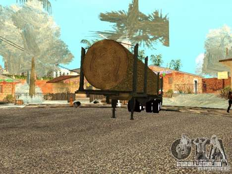 Árvore derrubada para GTA San Andreas vista direita
