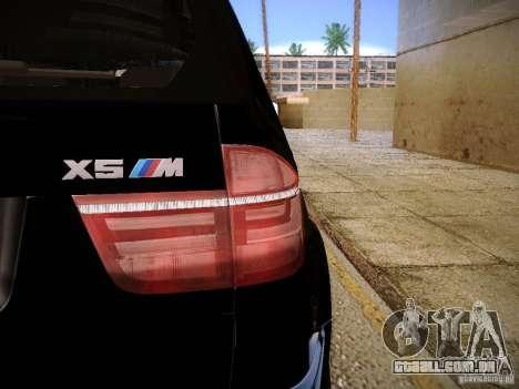 BMW X5M 2011 para GTA San Andreas vista direita