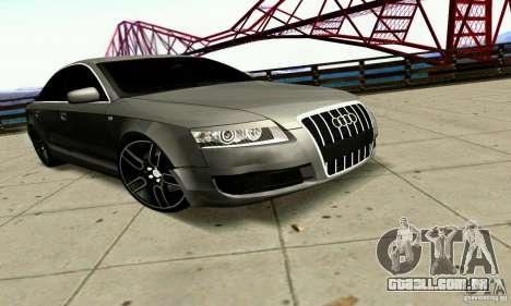 Audi A6 Blackstar para GTA San Andreas vista traseira