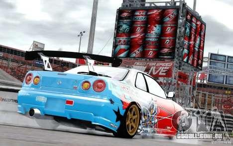 Nissan Skyline R34 Evil Empire para GTA 4 vista direita