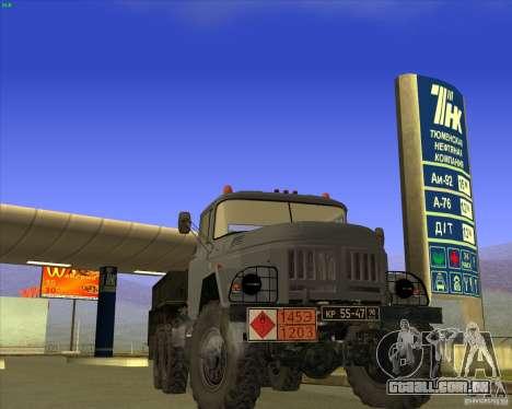 ZIL 131 petroleiro para GTA San Andreas