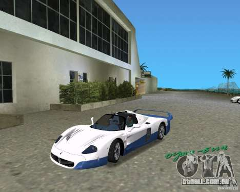 Maserati MC12 para GTA Vice City