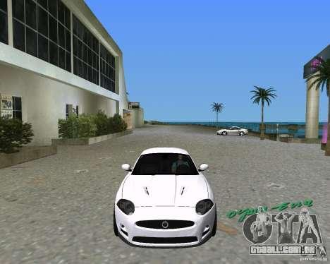 Jaguar XKR S para GTA Vice City vista direita