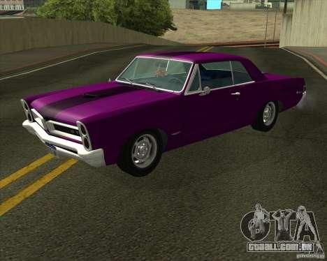 Pontiac GTO 1965 para GTA San Andreas esquerda vista