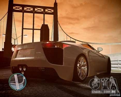 Lexus LF-A Roadster para GTA 4 vista de volta