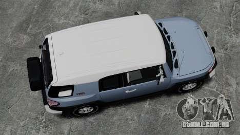 Toyota FJ Cruiser para GTA 4 vista direita