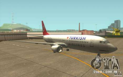 Boeing 737-800 THY para GTA San Andreas esquerda vista