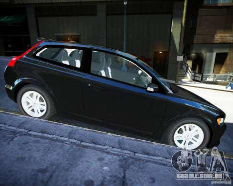 Volvo C30 2009 para GTA 4 esquerda vista