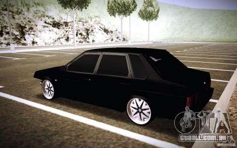 VAZ 21099 Turbo para GTA San Andreas traseira esquerda vista