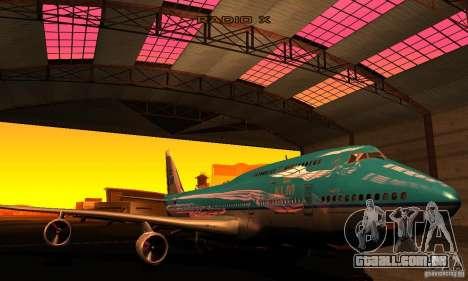 Boeing 747 KLM para GTA San Andreas vista traseira