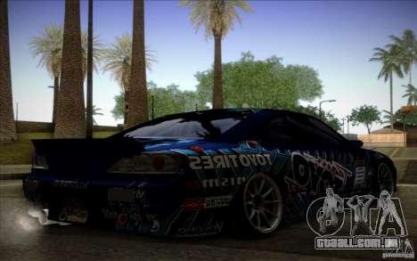 Nissa Silvia S15 Toyo para GTA San Andreas esquerda vista