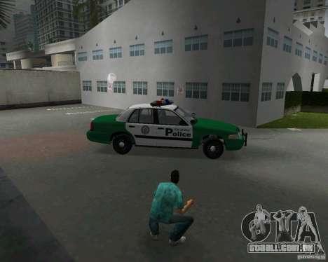 Ford Crown Victoria 2003 Police para GTA Vice City vista interior
