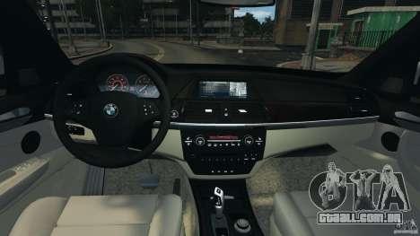 BMW X5 xDrive35d para GTA 4 vista de volta