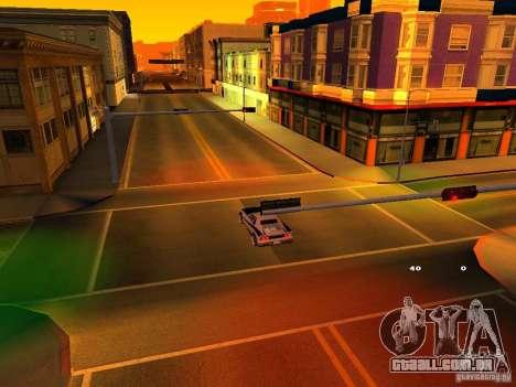 New Cheetah para GTA San Andreas vista interior