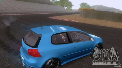 VW Golf 5 R32 2006 StanceWorks para vista lateral GTA San Andreas