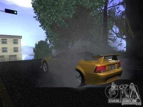 Ford Mustang SVT Cobra para GTA San Andreas vista traseira