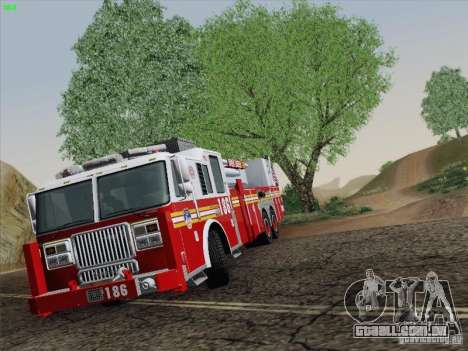 Seagrave Marauder. F.D.N.Y. Tower Ladder 186 para GTA San Andreas vista interior