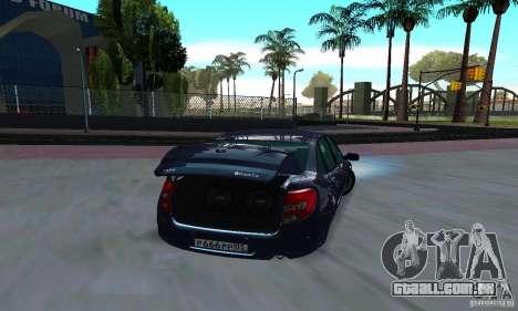 Lada Granta Low para GTA San Andreas vista direita