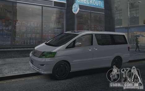 Toyota Alphard v2.0 para GTA 4 vista direita