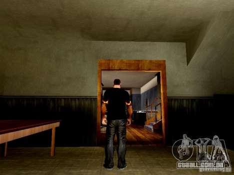 Camiseta preta com uma caveira para GTA San Andreas terceira tela