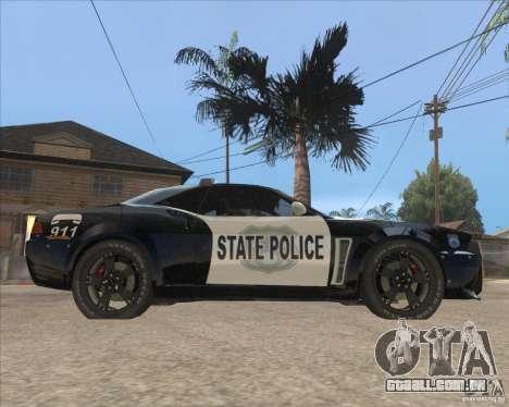 Police NFS UC para GTA San Andreas traseira esquerda vista
