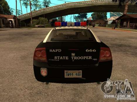 Dodge Charger RT Police para GTA San Andreas vista direita