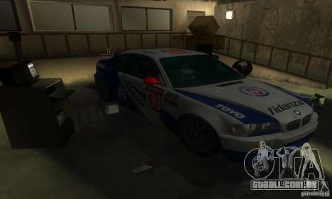 BMW M3 E46 TUNEABLE para GTA San Andreas vista interior