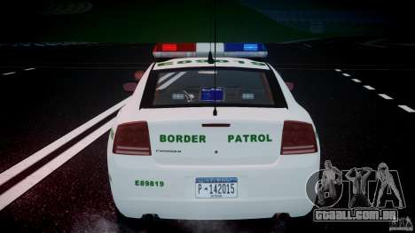 Dodge Charger US Border Patrol CHGR-V2.1M [ELS] para GTA 4 rodas