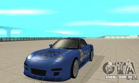 Mazda RX-7 Pickup para GTA San Andreas esquerda vista