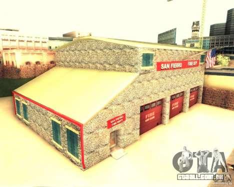 Novo quartel de bombeiros em San Fierro para GTA San Andreas segunda tela