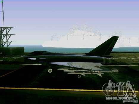 Eurofighter-2000 Typhoon para GTA San Andreas esquerda vista