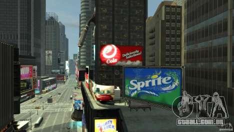 Real Time Square mod para GTA 4 por diante tela