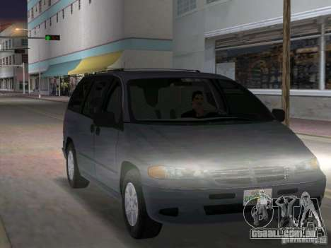 Dodge Grand Caravan para GTA Vice City vista traseira
