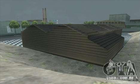 A garagem atualizada CJ em SF para GTA San Andreas quinto tela
