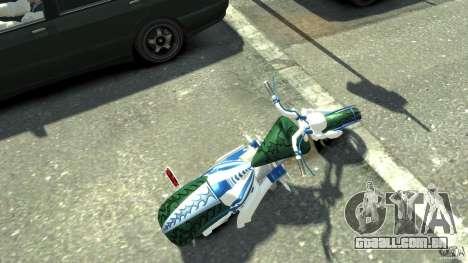 HellFire Chopper para GTA 4 traseira esquerda vista
