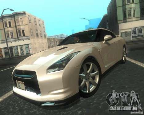 Nissan GTR R35 Spec-V 2010 Stock Wheels para GTA San Andreas
